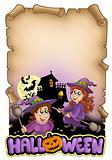 Parchment with Halloween theme 1