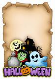 Parchment with Halloween theme 3