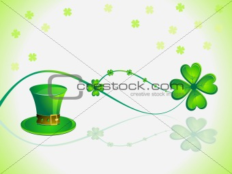 abstract st patricks day card vector illustration