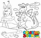 Coloring book with big dragon 2