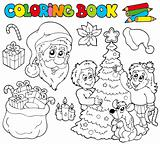 Coloring book with Christmas theme