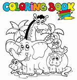 Coloring book with cute animals 1