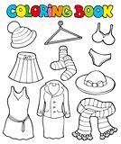 Coloring book with various clothes