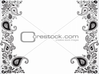 abstract floral ornament design