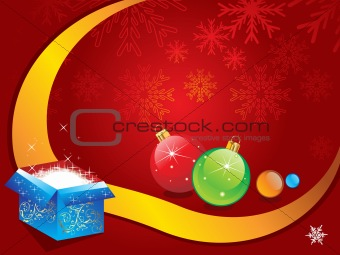 abstract christmas backgorund vector illustration