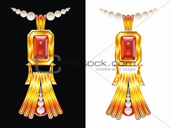 abstract golden neckless