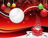 abstract christmas background with magic box