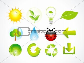 abstract eco multiple elements icon