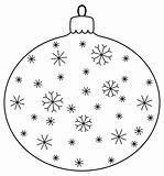 Christmas ball with snowflakes