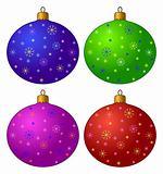 Christmas-tree decorations, set