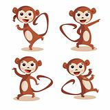 Cute dancing monkey