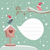 winter card with place for your text