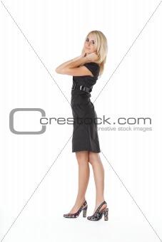 beautiful woman  in black