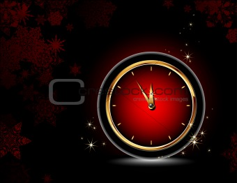 clocks with christmas background