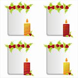 christmas candles frames