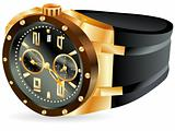 golden man watch