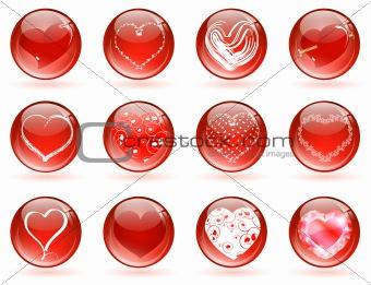 valentine love glossy balls