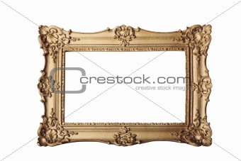 gold frame on white