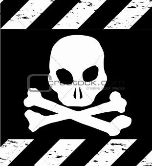 Skull Symbol Danger. Vector
