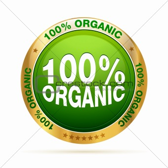 100 procente organic badge