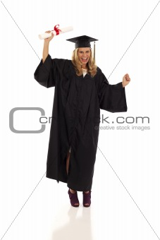Young female graduate