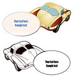 Vector two car with place for Your text