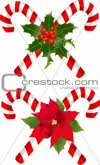 Christmas candy cane decorated designs