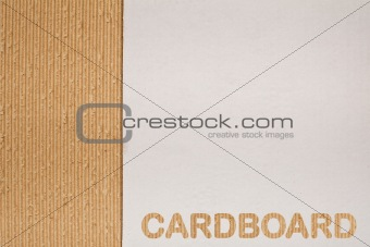 Cardboard background with copy space
