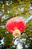 red chinese lamp