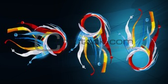 abstract form, design elements, fantastic background