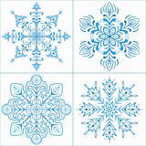 Snowflakes, set