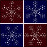 Snowflake from snowflakes, set