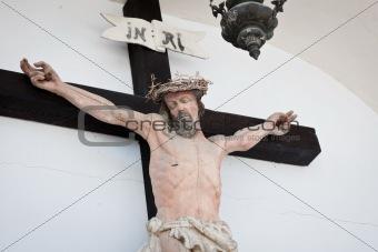 Crucifixed Jesus statue