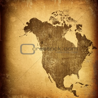 aged America map-vintage artwork