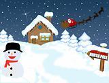 Santa's house at North Pole