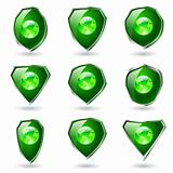 Green shields.