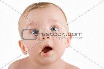 baby boy funny grimace