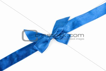 blue holiday ribbon