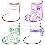 Christmas stockings, set