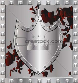 background silver shield