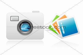 camera with photographs