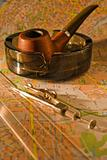 Pipe and compass