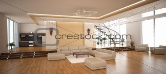 Modern interior of a drawing room