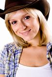 western woman in cowboy hat