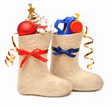 children's boots with gifts
