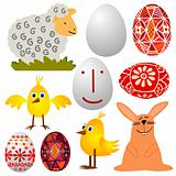 Easter - various elements - vector