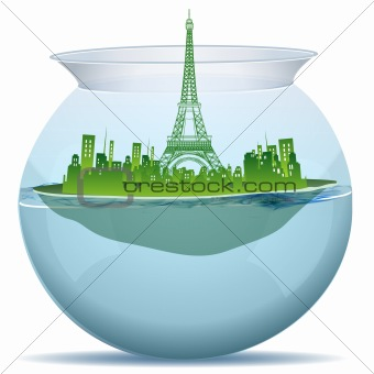 tower in water pot