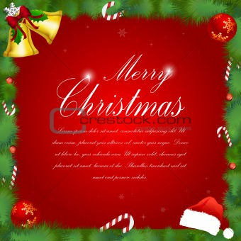 classic merry christmas card