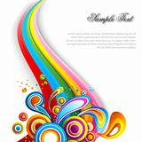 abstract vector background with colorful swirls