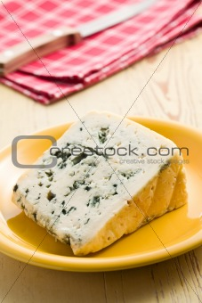 blue cheese on plate